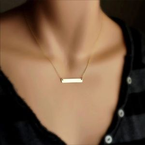 Jewelry - Gold Filled Elegant Bar Necklace